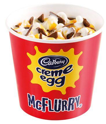 McDonald's Cadbury Creme Egg McFlurry