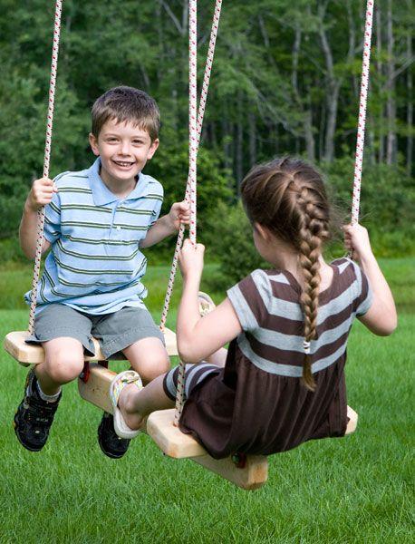 Cool swings!    Swings & Swinging Things: Frolic Swing Set, Play Set Accessories | CedarWorks