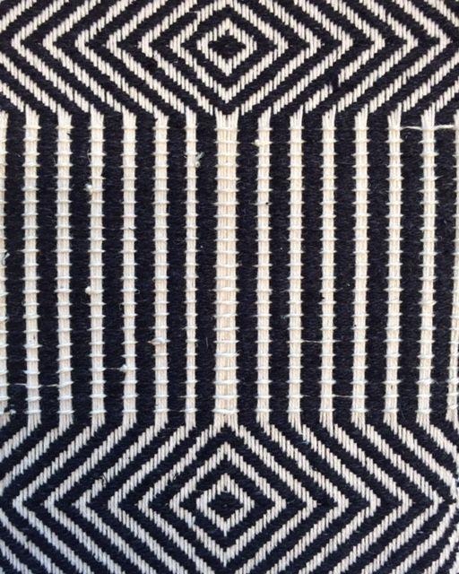 Monochrome Weaving with graphic pattern; two tone fabric sample; woven textiles design // Marianna Nello