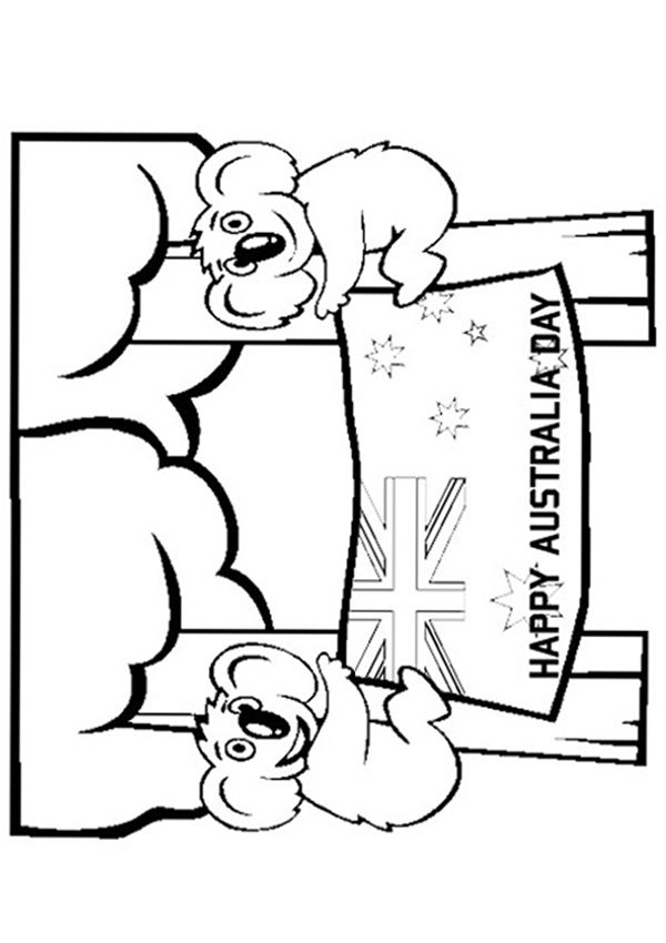 Free Online Australia Day Colouring Page #AustraliaDay