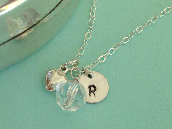 Collana personalizzata aprile Birthstone cristallo di quarzo