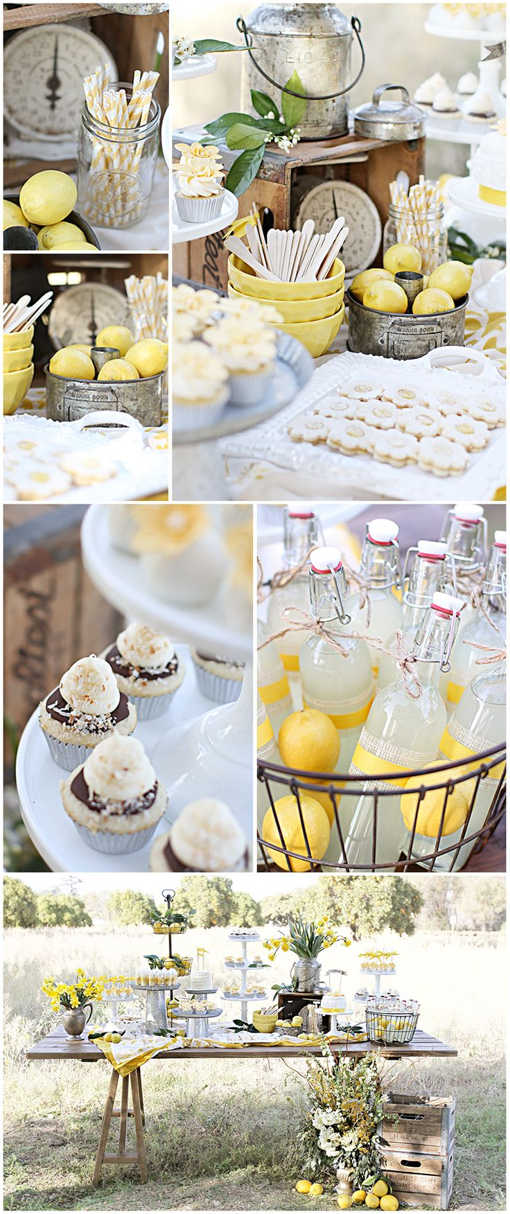 A lemonade bar in the middle of the summer is a fantastic idea :)