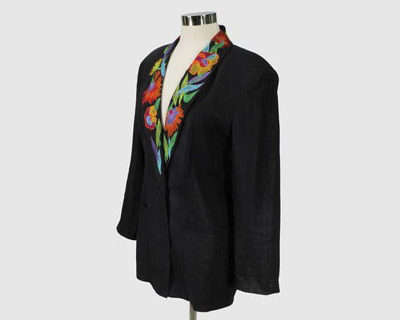 IB Diffusion Vintage 1980s Oversized Boyfriend Blazer Jacket