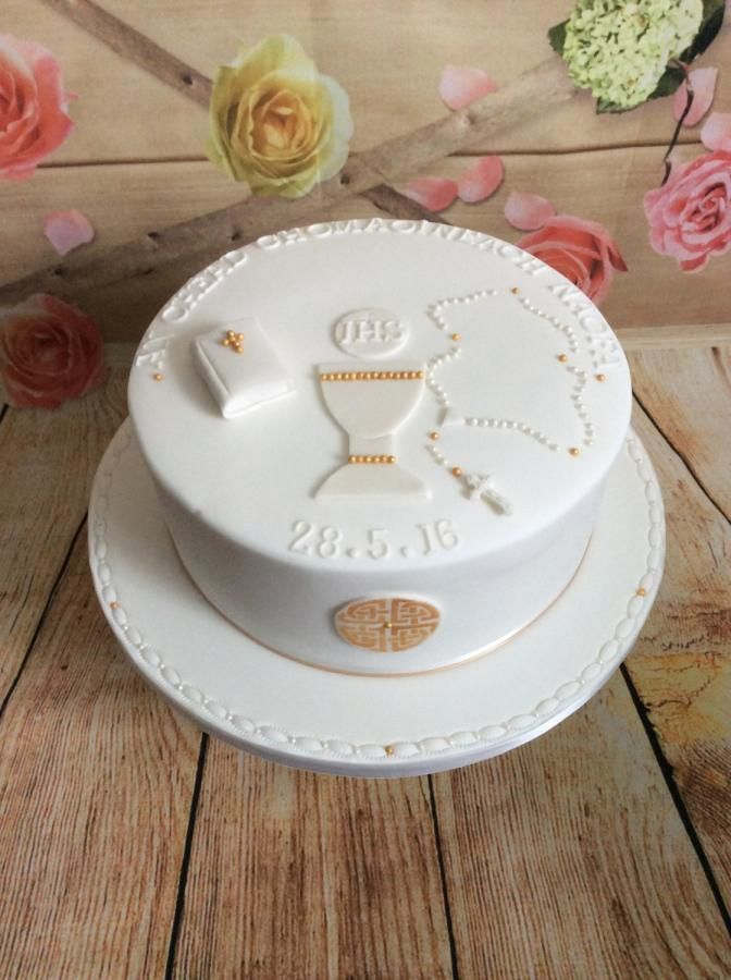 Last Communion Cake of the Year... Take 2!  by Kizzy's Cakes