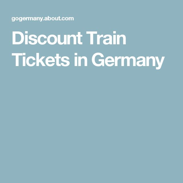 Discount Train Tickets in Germany
