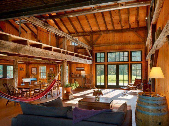 en maison, hamac exotique, canapé confortable, barrique en bois ~ Barrique En Bois