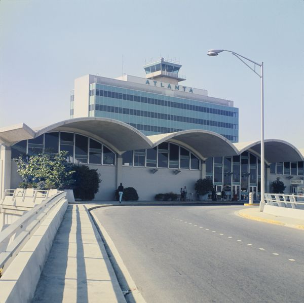 1960s view of Atlanta Municipal Airport (now Hartsfield–Jackson Atlanta International Airport).