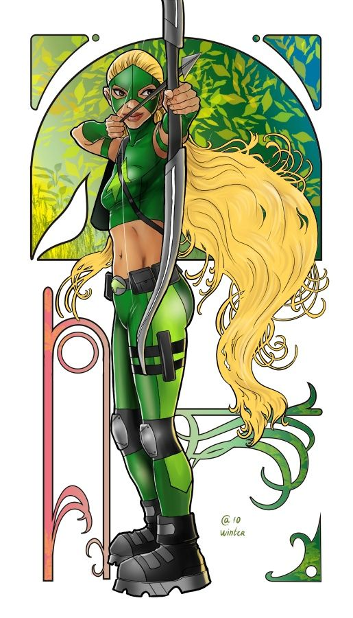 Artemis Young Justice Art deco