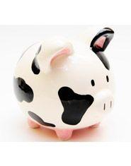 Alcancía cochino vaca. COMPRA AQUÍ https://www.giferent.com/productos/regalos-originales-photofolio-alcancia-ceramica-cochino-vaca-detalle