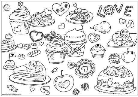 Kawaii sweets coloring pages coloring pages for Sweet treats coloring pages