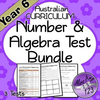 Year 6 Number & Algebra Maths Test Bundle - Australian Curriculum