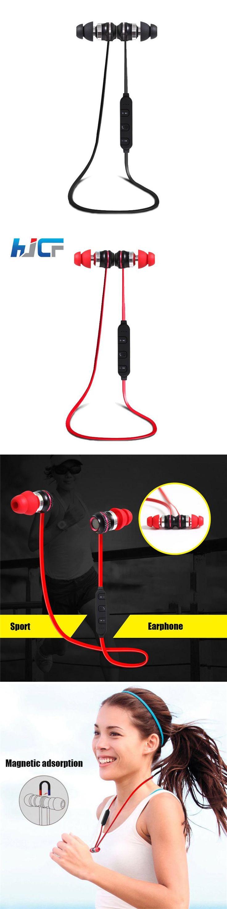 High-End HJCF Magnetic Steelseries Bluetooth Earphone Sport Stereo Super Bass Kulaklik For iphone Samsung Audifonos HS11