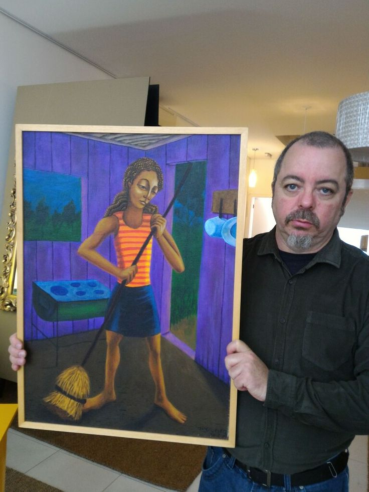 Sweeping girl, 50x70cm, 2005