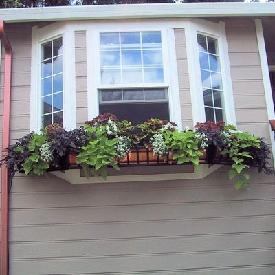 bay window flower boxes pacific heights copper and wrought iron window boxes