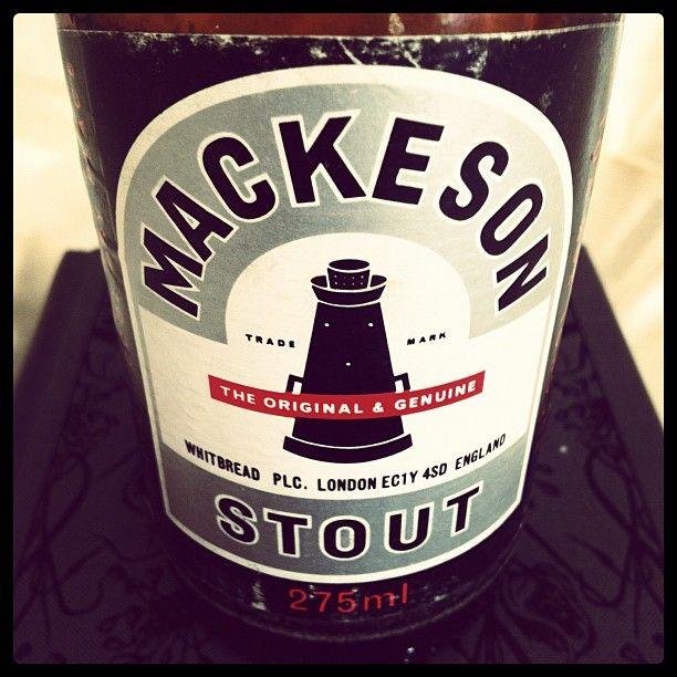 Mackeson bottle from England, 1991