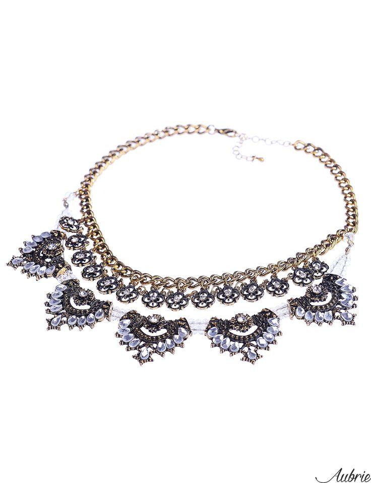 #aubrie #aubriepl #aubrie_necklaces #necklaces #necklace #jewelery #accessories #marla #black #vintage