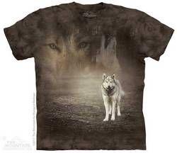 The Mountain Kids Wolf T-shirt | Grey Wolf Portrait