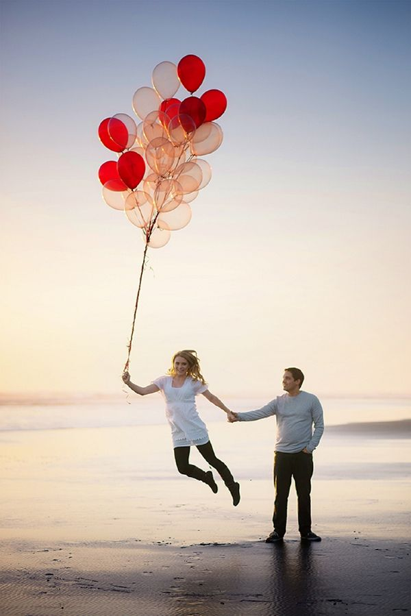 A Fun Balloon Beach Engagement in New Zealand ~ UK Wedding Blog ~ Whimsical Wonderland Weddings