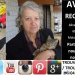 PARTAGEZ L'AVIS DE RECHERCHE DE NOTRE MERE:  Aline (Lilina) Penon a quitté son domicile à Vourey, Isère (38) vendredi 03 mai 2013. Les personnes qui l'ont aperçue peuvent appeler les gendarmes de Moirans au 04 76 35 30 17. Youtube: http://youtu.be/C2LaS49ODpg