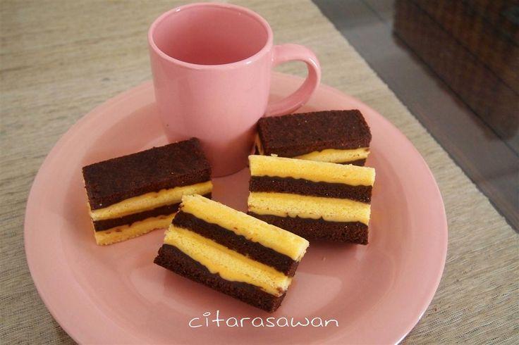 Kek Lapis Kukus Coklat Keju | Resipi Citarasawan