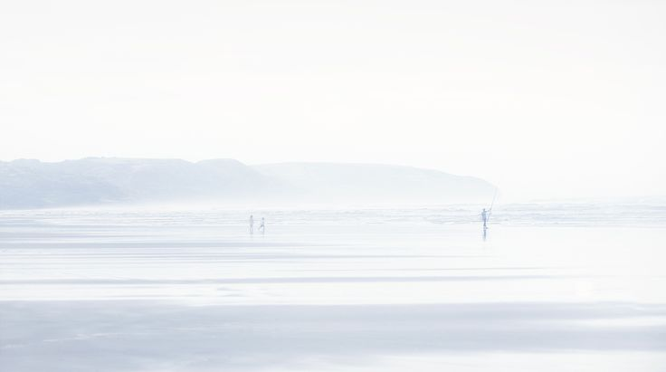 Surf Caster, West Coast Beach NZ, NZ Art, Our Land, Dan Max, Children on Beach, NZ Fishing.