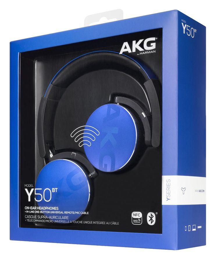 AKG Y50BT Recertified Foldable On-Ear Headphones