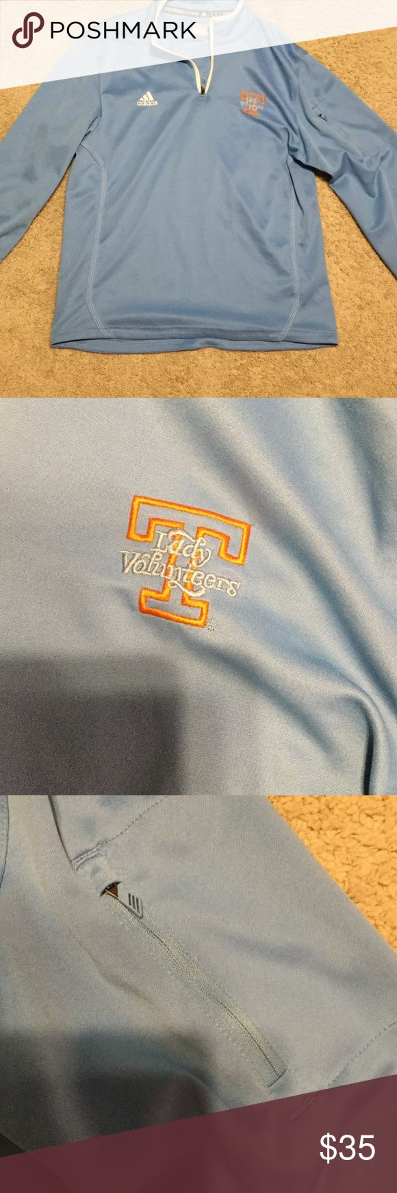 "Adidas ""Lady Volunteers"" pullover Adidas climate pullover. With lady vols logo, purchased at a UT lady vols game. In great condition. 100% polyester Adidas Tops Sweatshirts & Hoodies"