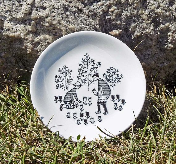 Arabia Finland Emilia Mini Wall Plate / Coaster $38.00 at BlackthornRoad