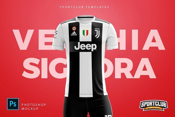 Download Soccer Uniform Kit Template Juventus By Sportclub Templates On Creativemarket