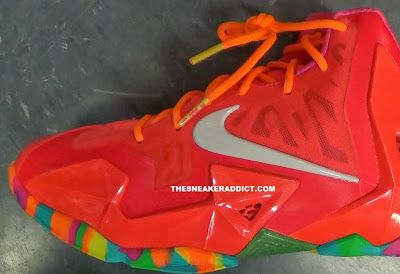 "THE SNEAKER ADDICT: Nike Lebron 11 XI ""Fruity Pebbles"" Sneaker (Detailed Images)"