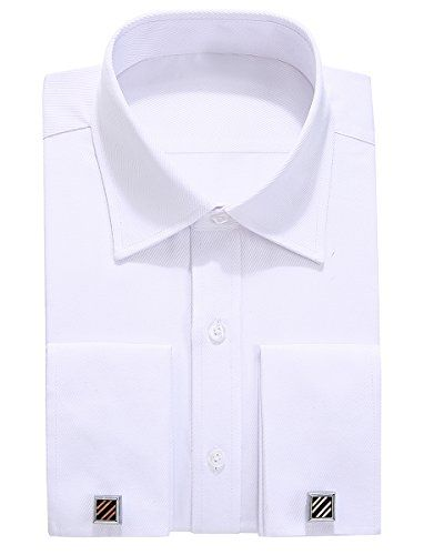 Alimens & Gentle Solid Color Regular Fit French Cuff Dress Shirts (Cufflink Included)  Rush for 10% off with promo code: GQBFKFRW when you order 2 any items.  Including cufflinks (Send Randomly)  If you received a shirt without cufflinks, please contact us in time  French cufflinks shirt,Dress shirt,Long sleeve,Left pocket,Regular fit  If you have any questions in the shopping, please contact us promptly, we will solve the problem in time