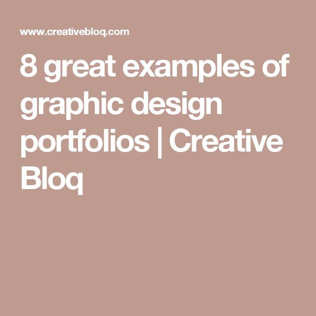 8 great examples of graphic design portfolios | Creative Bloq