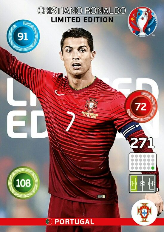 Cristiano Ronaldo - Portugal - EURO 2016 - PANINI