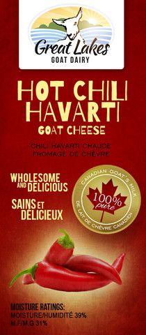 Hot Chili Havarti Goat Cheese – Great Lakes Goat Dairy