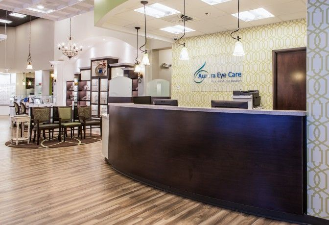 Aurora Eye Care | Reception Counter | Optical Office ...