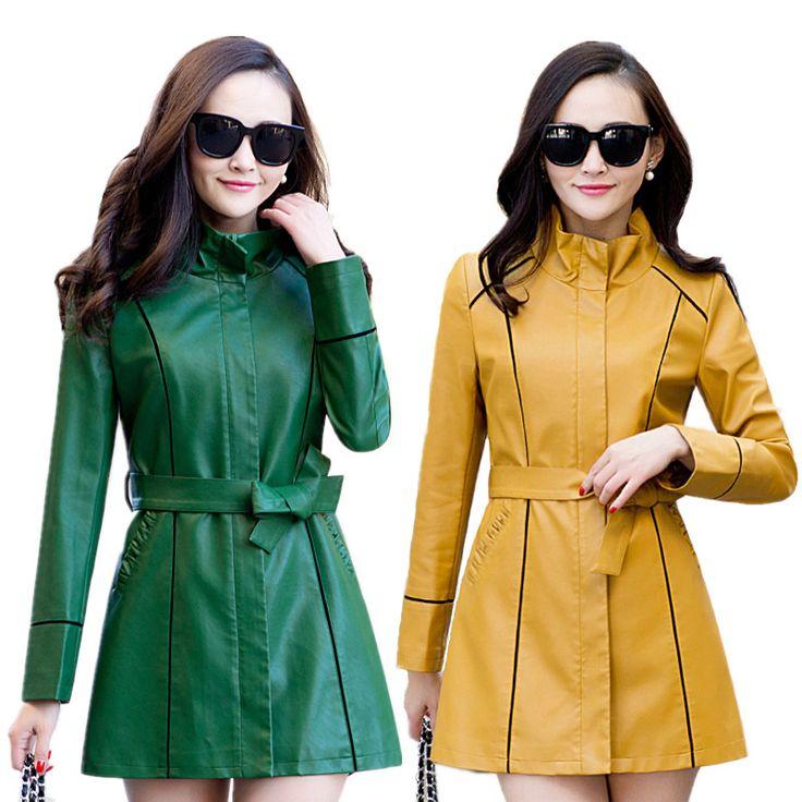 2017 Spring Autumn Plus Size Sheepskin Leather Jacket  Women Leather Coat Female Faux Leather Jacket For Women PU Jacket