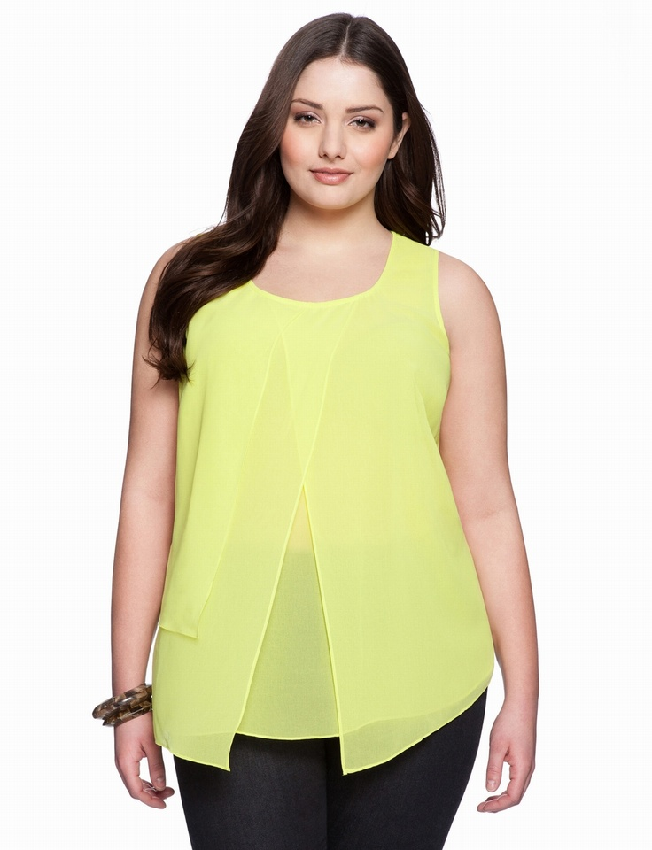 Overlay Tank | Plus Size Tops & Shirts | eloquii by THE LIMITED