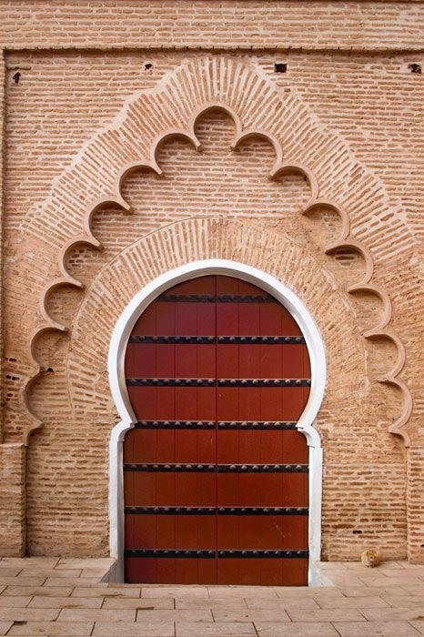door to the great Koutoubia Mosque in Marrakech