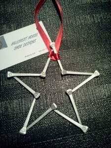 Ornament idea - star made from horseshoe nails