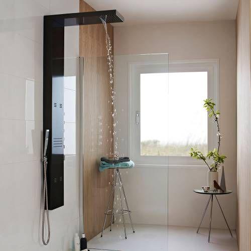 Panel de ducha termost tico con alcachofa efecto lluvia y - Duchas efecto lluvia ...