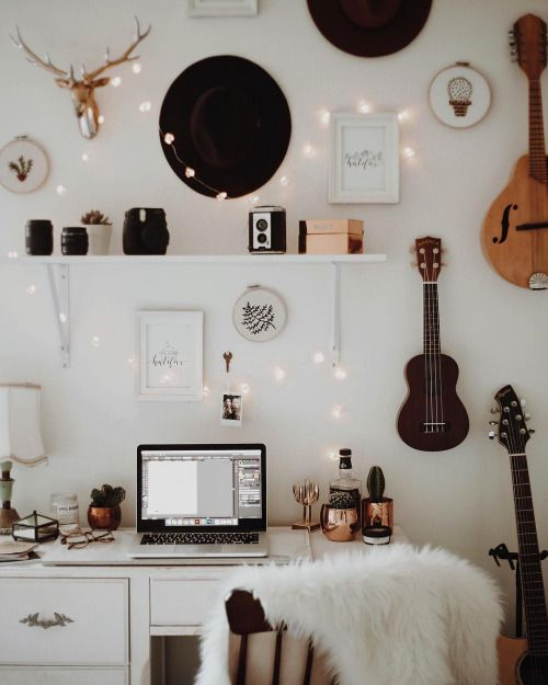 Desk Space And Wall Decor
