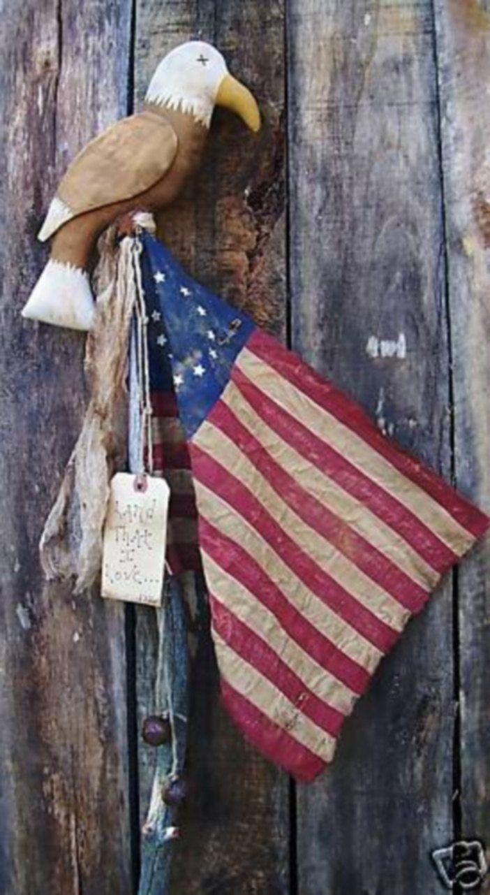 Huge old hand carved wood federal eagle folk art wooden eagle wall - Primitive Pattern Americana Flag Eagle Flag Pole Primitive Pattern Pdf Instant Download Primitive Flag Betsy Ross Flag