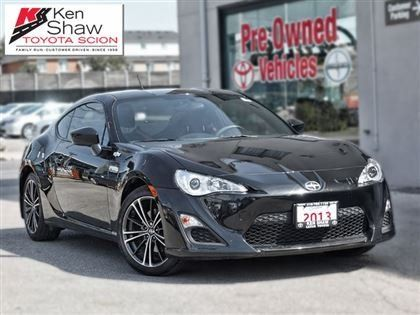2013 Scion FR-S – $19,288: Providing sublime driving dynamics. https://carandtruck.ca/car-dealerships/ken-shaw-lexus-toyota-scion-toronto-on-22/used-cars/2013-scion-fr-s-6337/