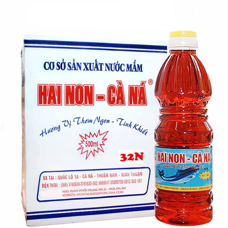 Nước Mắm Hai Non Cà Ná 32 Độ Đạm 500ml (6chai/thùng)