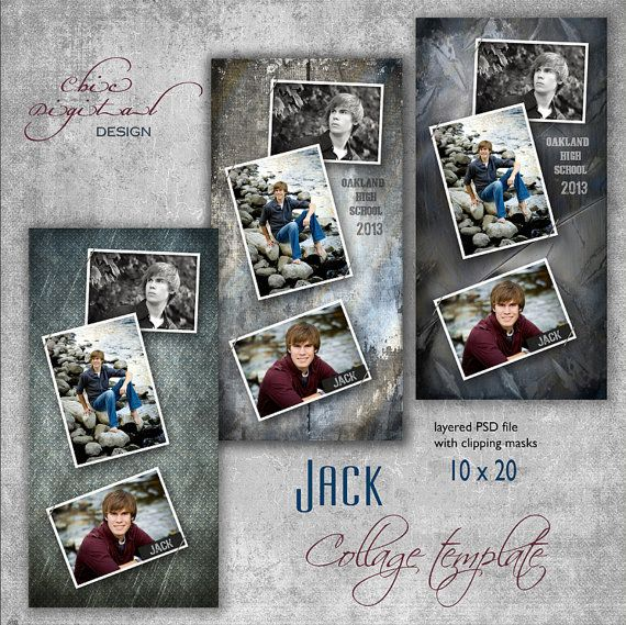 27 best images about senior pic collage layout ideas on for Senior photo collage templates