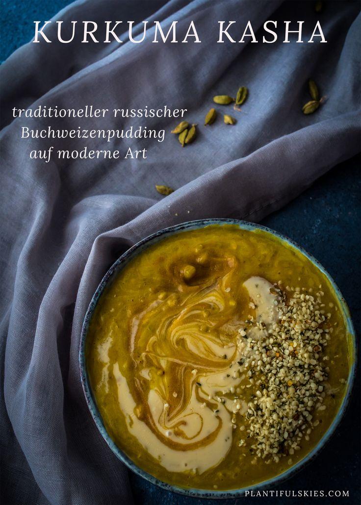 Kasha, das traditionell russische Gericht, kommt heute in einer frischen Version daher. Mit gesundem Kurkuma, das dich fit macht für den Tag. Ein gesundes Frühstück. Vegan, glutenfrei und super schnell gemacht.