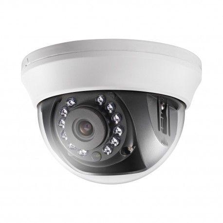 Доступная купольная камера для системы видеонаблюдения внутри помещений. Технологии: HD-TVI. Матрица: CMOS IS. Разрешение: 1920x1080 пикс. (2 Мп/Full HD). Фокусное расстояние: 2,8/3,6 мм (угол обзора - 103°/82,2°). Дальность ИК подсветки: до 20 метров.