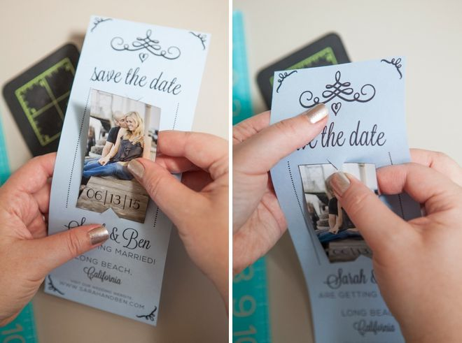 Diy Wedding Magnet Save The Date Invitations Http Somethingturquoise