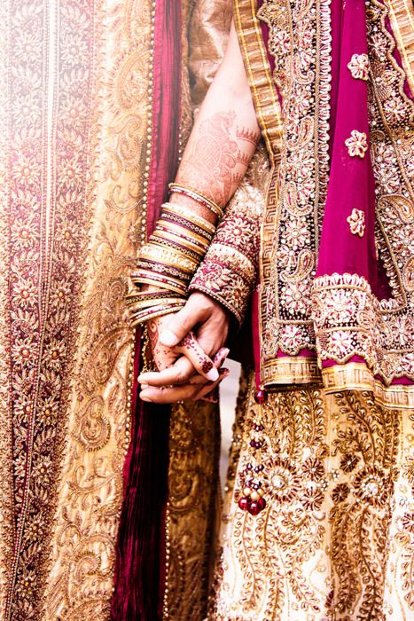 Indian Weddings - oh my god i want that color for my wedding. o_o