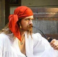 How to tie a bandana. For the pirates and mermaids party.
